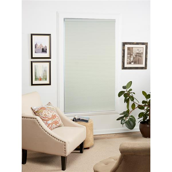 """allen + roth Blackout Cellular Shade- 64.5"""" x 72""""- Polyester- Creme/White"""