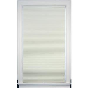 """Store coupe-lumière, 50"""" x 64"""", polyester, crème/blanc"""