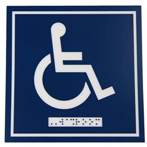 Signalisation standard de toilettes, handicapés