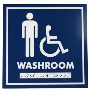 Signalisation standard de toilettes, hommes et handicapés