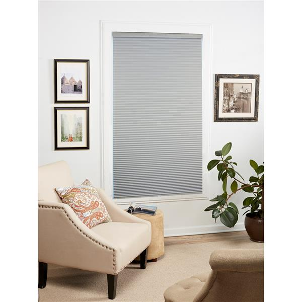 """allen + roth Blackout Cellular Shade - 57.5"""" x 72"""" - Polyester - Gray"""