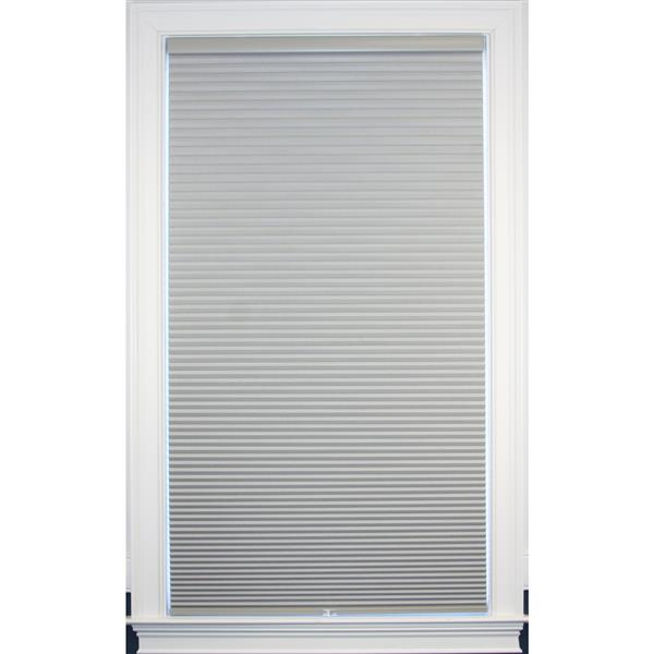 "Store coupe-lumière, 67"" x 48"", polyester, gris sterling"