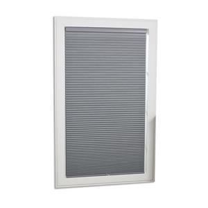 "Store coupe-lumière, 65,5"" x 64"", polyester, gris/blanc"