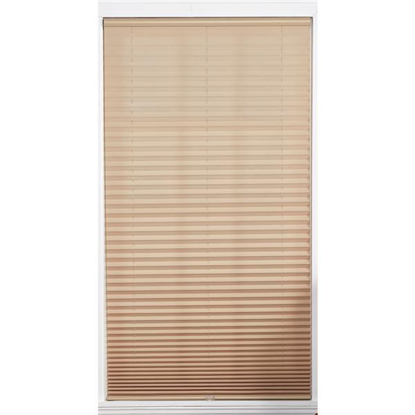 Store plissé filtrant sans cordon, 27,5x72, chameau