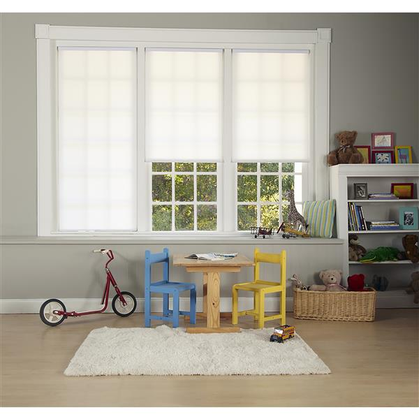 "allen + roth Light Filtering Cellular Shade - 58"" X 72"" - White"