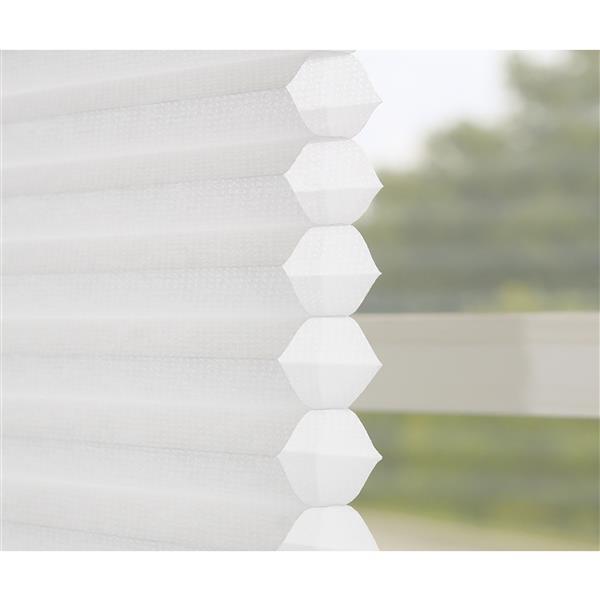 """Store alvéolaire filtrant, 69,5"""" x 64"""", blanc"""