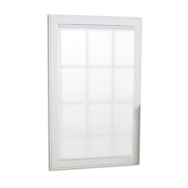 """Store alvéolaire filtrant, 35,5"""" x 64"""", blanc"""