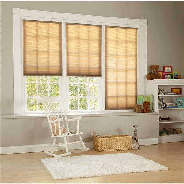 "allen + roth Light Filtering Cellular Shade - 63.5"" X 64"" - Linen"