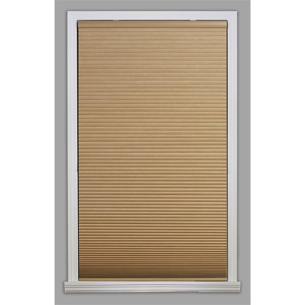 "Store coupe-lumière, 51"" x 72"", polyester, kaki/blanc"