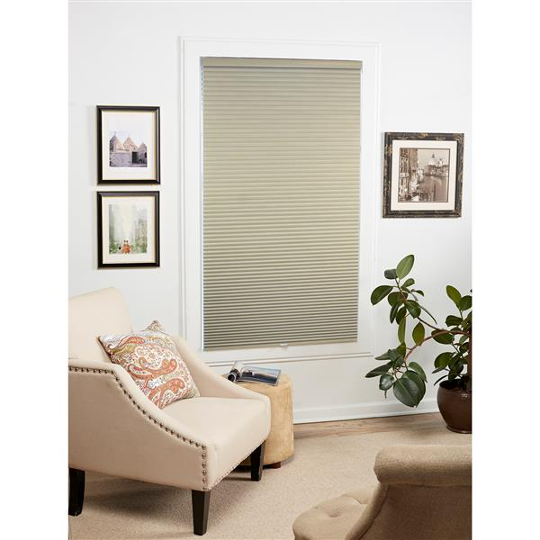 """allen + roth Blackout Cellular Shade- 56.5"""" x 72""""- Polyester - Sand-White"""