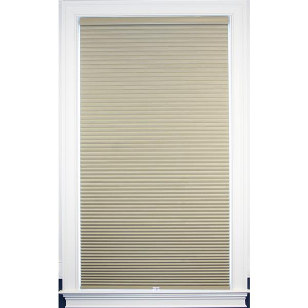 "Store coupe-lumière, 55"" x 64"", polyester, sable blanc"