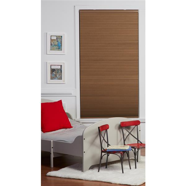 """Store coupe-lumière, 60,5"""" x 64"""", polyester, lin/blanc"""