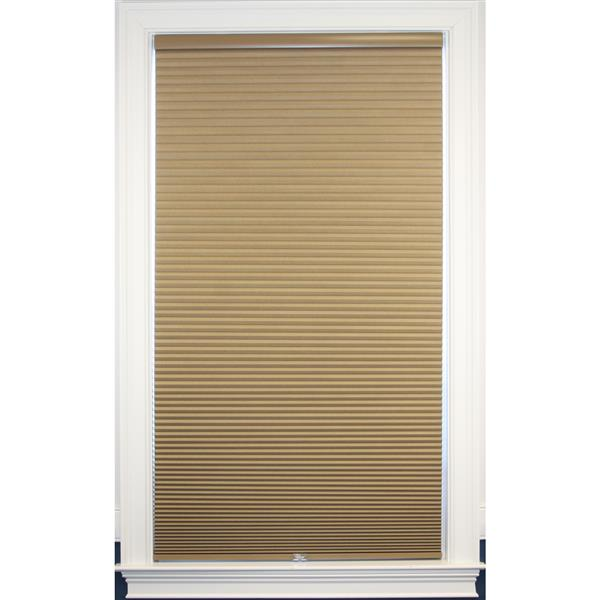 """Store coupe-lumière, 68,5"""" x 48"""", polyester, lin/blanc"""