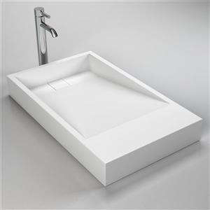 "Lavabo Cantrio Koncepts, 18"" x 30"", blanc"