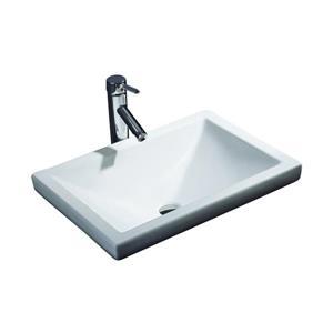 Cantrio Koncepts Rectangular Bathroom Sink - White