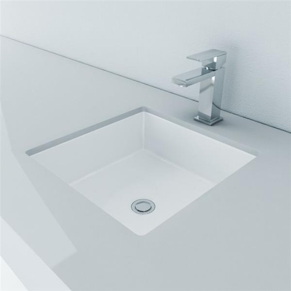 Cantrio Koncepts Square Undermount Bathroom Sink With Overflow Ps 105 Rona