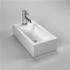 Cantrio Koncepts Rectangular Vessel Bathroom Sink with Overflow