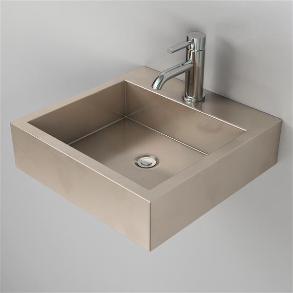 "Cantrio Koncepts Wall Mount Bathroom Sink - 17.63"""