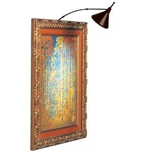 Lampe pour tableau Signature de Dainolite, 3 po, bronze brossé à l'huile