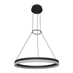 """Luminaire suspendu circulaire Tania, noir, 24"""""""