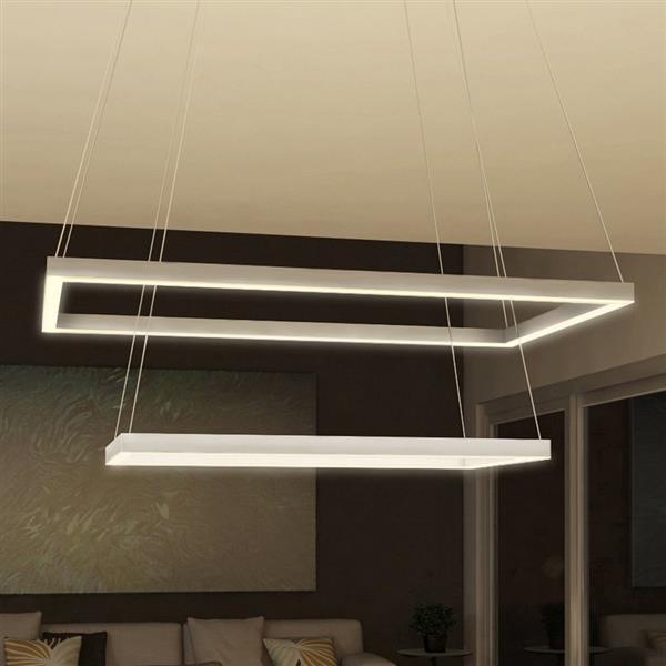 Vonn Lighting Atria 2-Light Satin Nickel Modern Abstract LED - 29-in