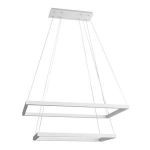 """Luminaire suspendu rectangulaire Atria, DEL, 29"""", blanc"""