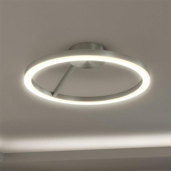 Vonn Lighting Zuben LED Semi-Flush Mount - Satin Nickel - 20-in