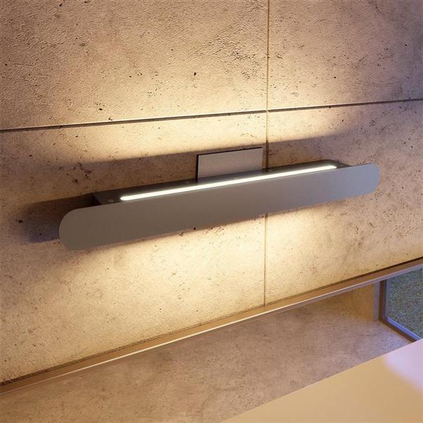 Vonn Lighting Scheddi LED Vanity Light - Rectangular - Satin Nickel - 22-in