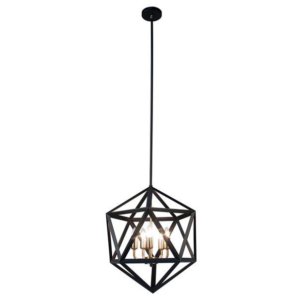 Dainolite Archello Chandelier - 5-Light - 20-in - Matte Black