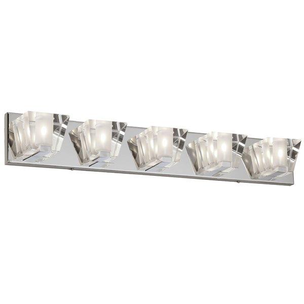 Dainolite Signature Vanity Light - 5-Light - 30.5-in - Polished Chrome