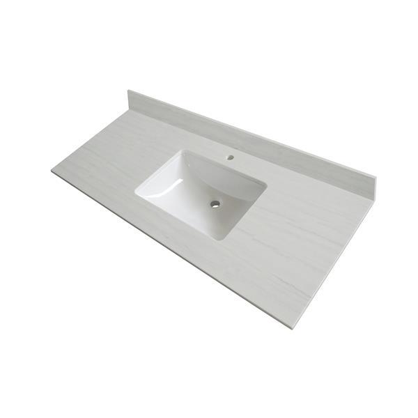 GEF Comptoir vanité de salle de bain, 49 po.  surface solid