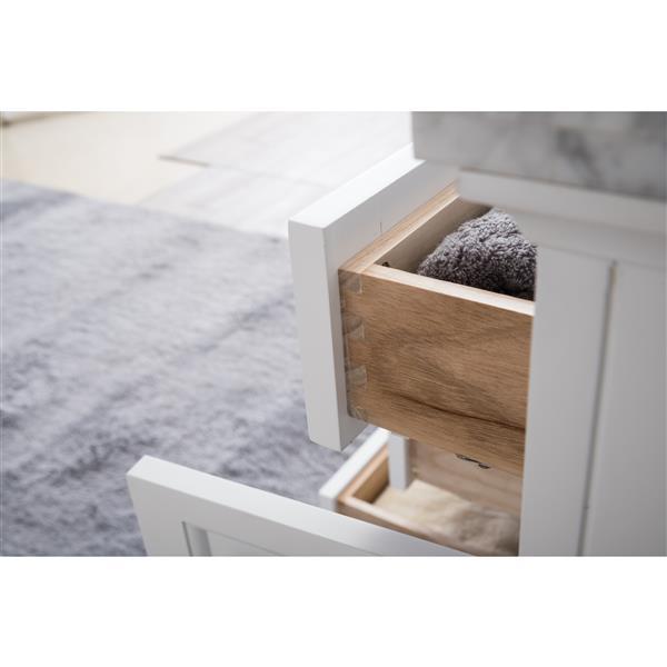GEF Meuble-lavabo Brielle avec comptoir surface solid , 60 po. blanc