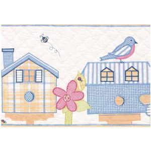 York Wallcoverings Birdhouse Flowers & Birds Wallpaper - Multicoloured
