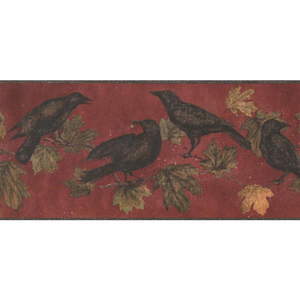 York Wallcoverings Black Birds on Branches Wallpaper