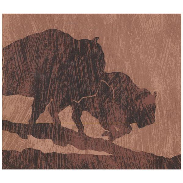 York Wallcoverings Buffalo Silhouette Sepia Wallpaper - Brown