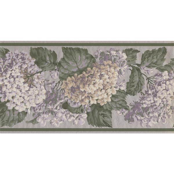 York Wallcoverings Hydrangea and Hortensia Floral Wallpaper - Multicoloured