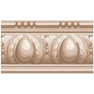 York Wallcoverings Abstract Victorian Wallpaper - Beige/Brown
