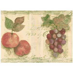 Norwall Fruit Wallpaper - Beige/Green