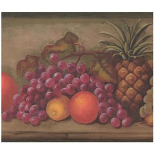 York Wallcoverings Fruit Wallpapwer - Multicoloured