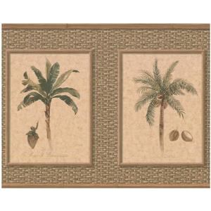 York Wallcoverings Palm Coconut Trees Wallpaper - Beige/Green
