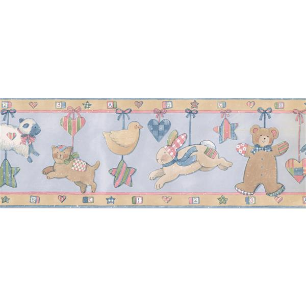 Norwall Toy Bunny and Teddy Bear Wallpaper
