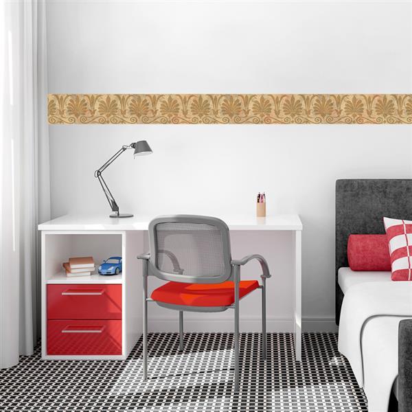 Norwall Trellis Distressed Wallpaper - Brown/Orange