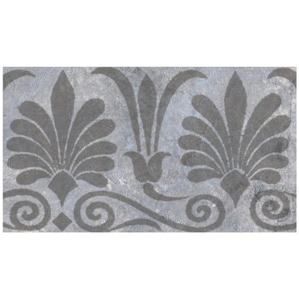 Norwall Trellis Distressed Wallpaper - Pewter/Grey