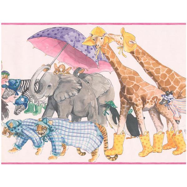 York Wallcoverings Cartoon Animals Wallpaper