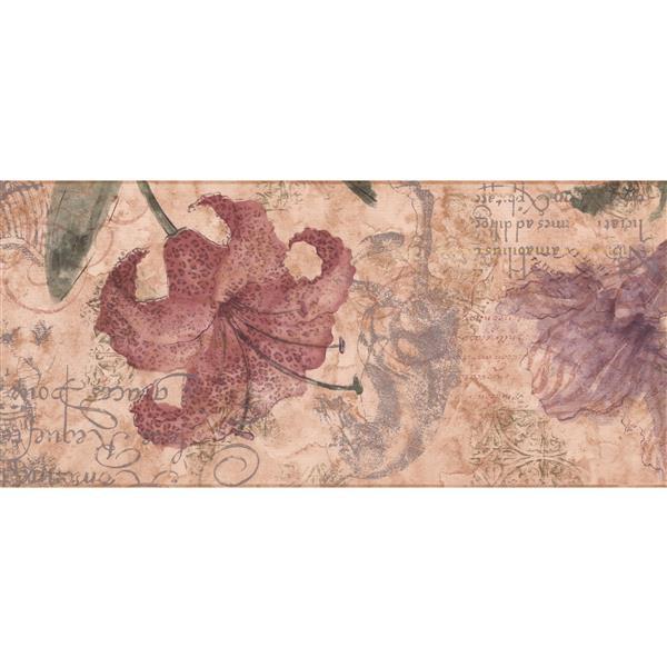 York Wallcoverings Flowers Vintage Wallpaper - Multicoloured