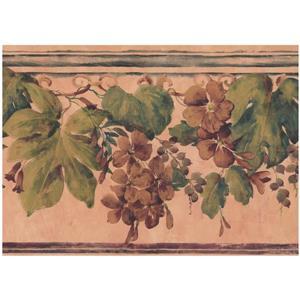 Floral Wallpaper - Orange/Brown