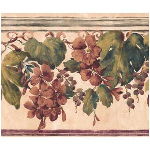 Floral Wallpaper - Orange/Beige