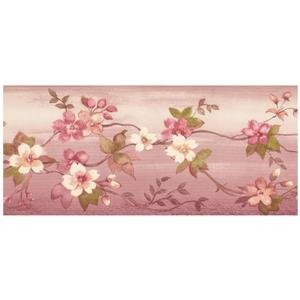 Norwall Summer Flowers on Vine Wallpaper Border