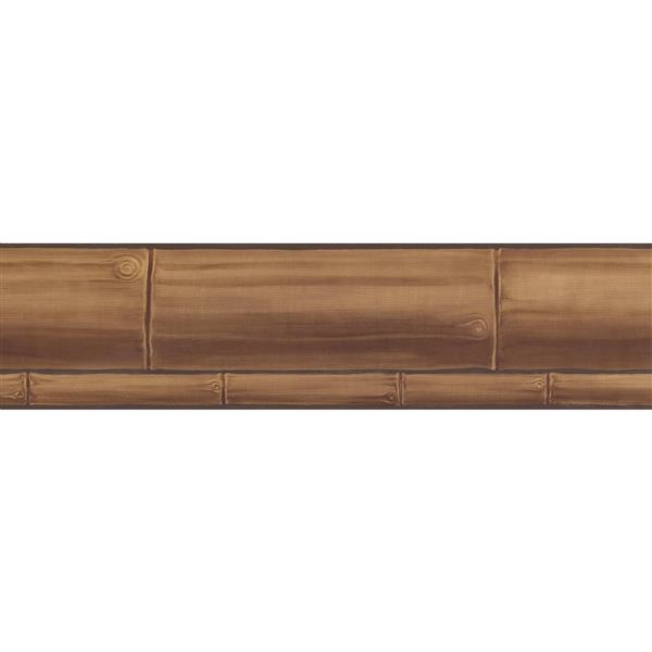 Retro Art Faux Wooden Planks Wallpaper Border