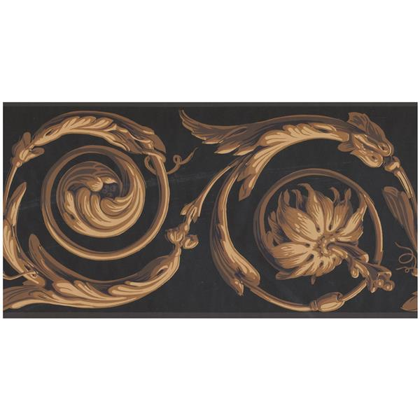 York Wallcoverings Prepasted Abstract Damask Wallpaper - Gold